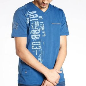 Men Cotton V-Neck T-Shirts