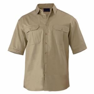 Corporate Staff Khaki Short Sleeve Work Shirts Wholesale