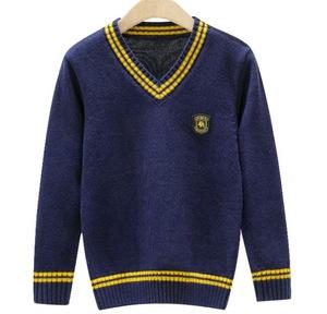 custom international primary school high school v-neck sweater uniforms
