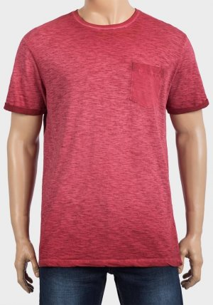 Mens Chest Pocket Burn Out T-Shirts