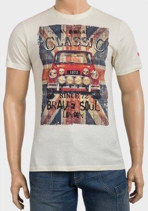 Mens Classic Car Print Cotton T-Shirt