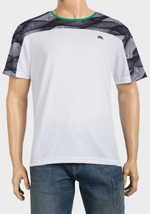 Mens Contrast Yoke Training T-Shirt
