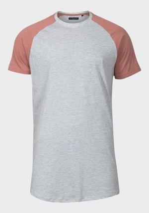Mens Raglan Sleeve Longline T-Shirt