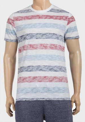 Mens Stripe Design Cotton T-Shirt