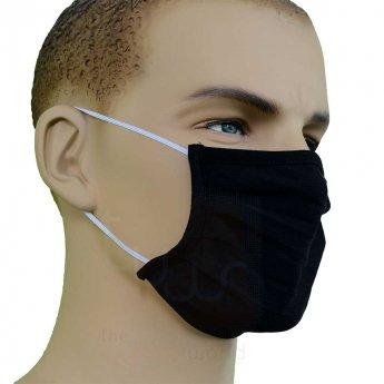 Black Disposable Knit Drifit Dust Face Mask, knit face masks, cotton face mask